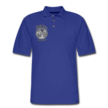Load image into Gallery viewer, Retro Rantdog Since 1909 1909 B&W - Men's Pique Polo Shirt - royal blue