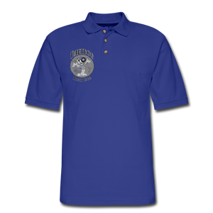 Retro Rantdog Since 1909 1909 B&W - Men's Pique Polo Shirt - royal blue