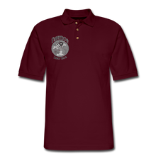 Load image into Gallery viewer, Retro Rantdog Since 1909 1909 B&W - Men's Pique Polo Shirt - burgundy