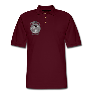 Retro Rantdog Since 1909 1909 B&W - Men's Pique Polo Shirt - burgundy