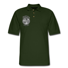 Load image into Gallery viewer, Retro Rantdog Since 1909 1909 B&W - Men's Pique Polo Shirt - forest green