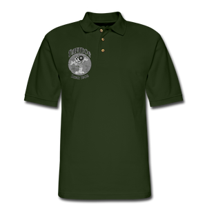 Retro Rantdog Since 1909 1909 B&W - Men's Pique Polo Shirt - forest green