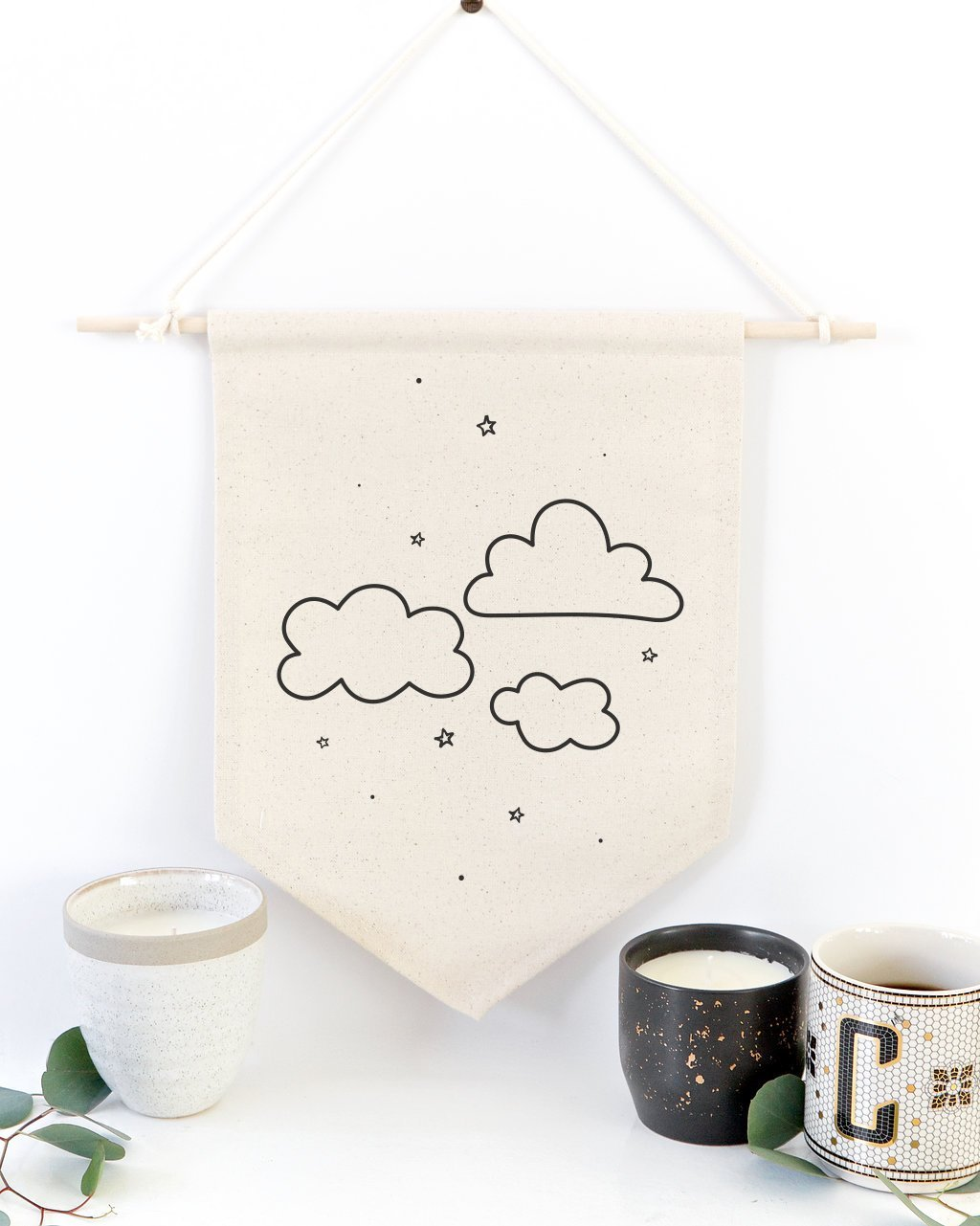 Clouds Hanging Wall Banner - JD Ann Bees