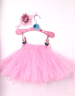 Baby Tutu Set With Soft Princess Crown And Pearls - 2Pcs Set - JD Ann Bees