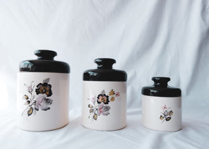 3 Glass Decorative Jars
