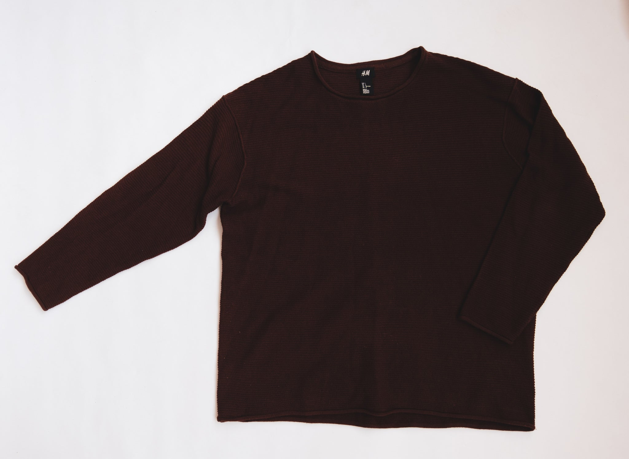 Ribbed Burgundy Sweater