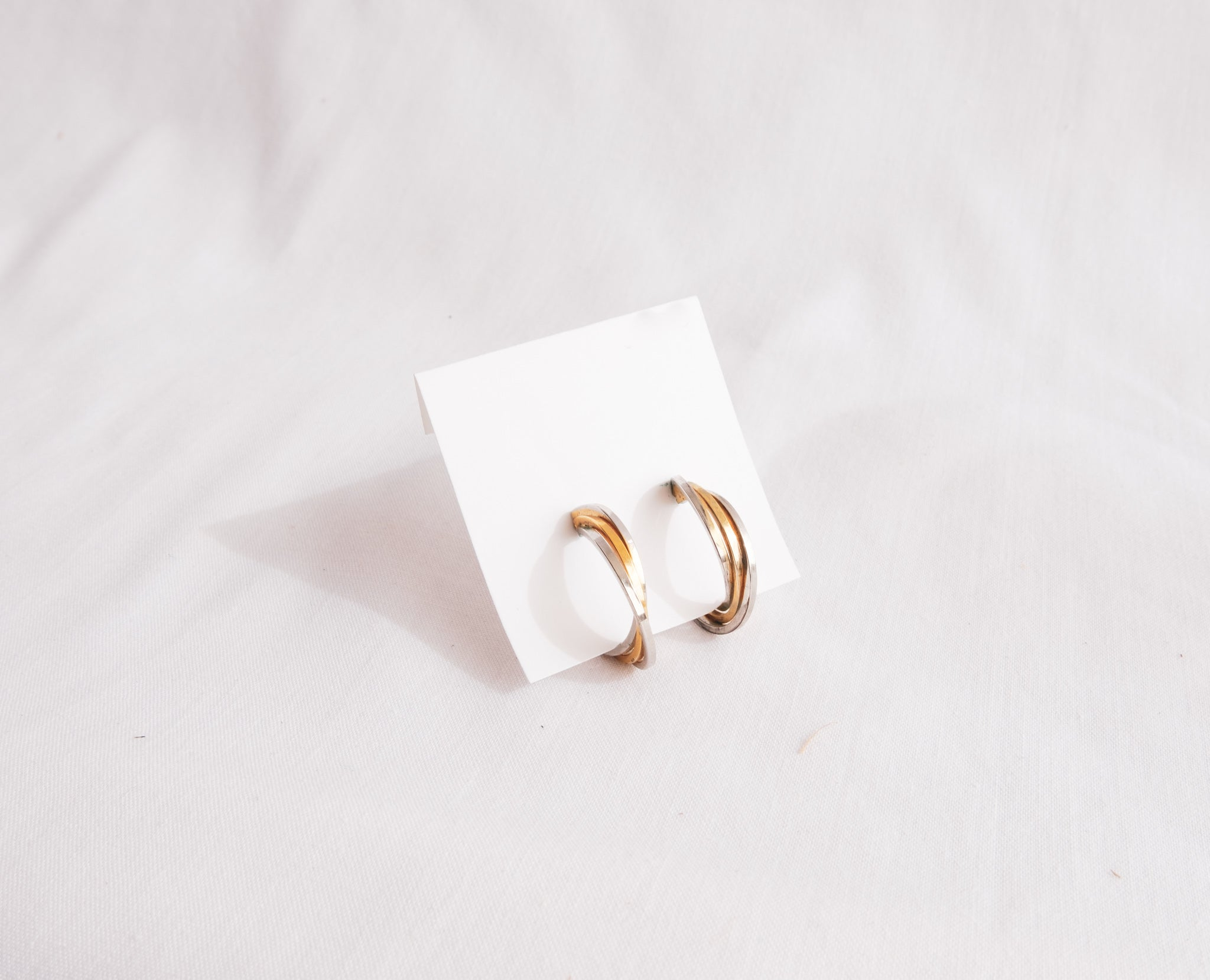 Gold and Silver Hoops