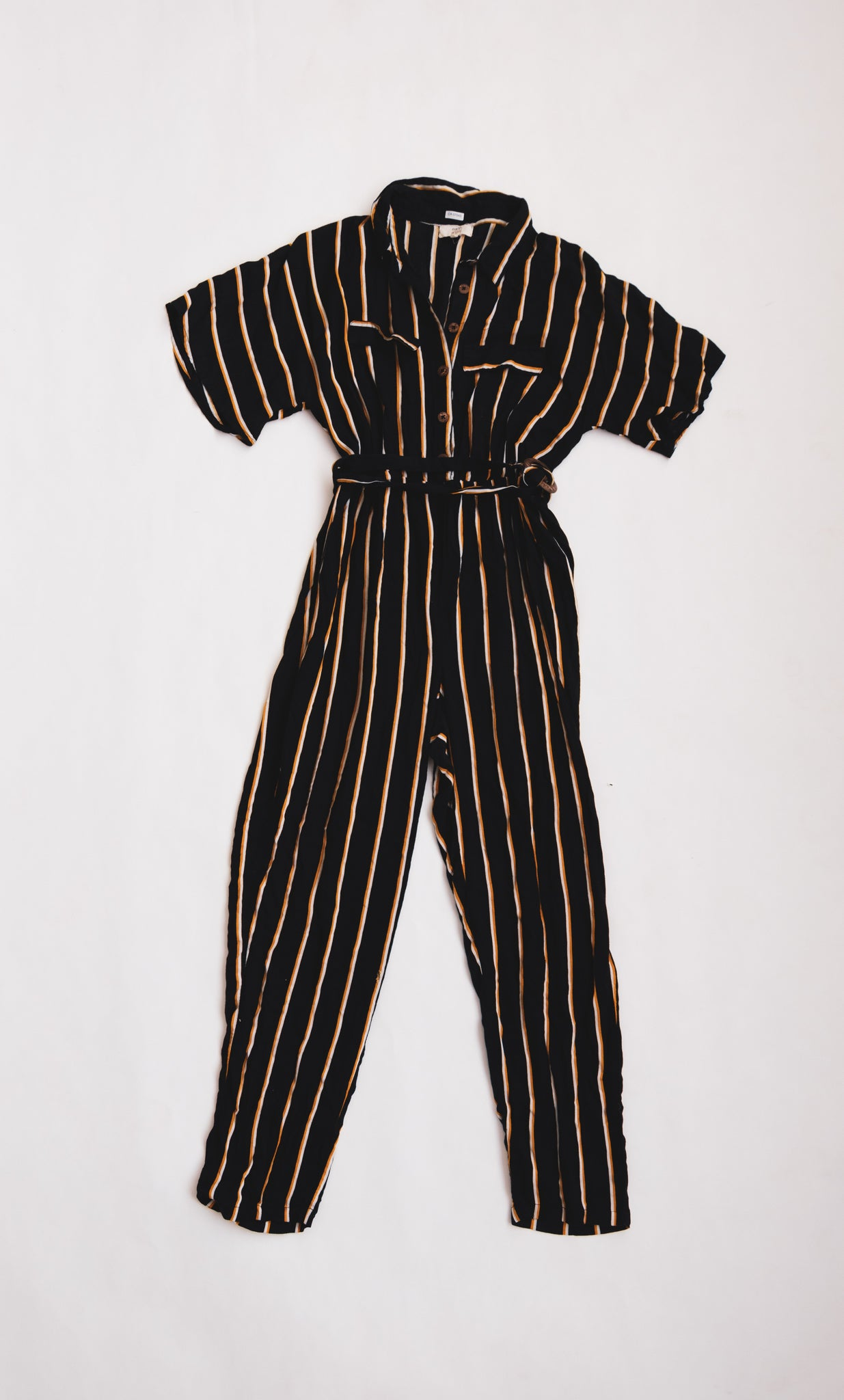 Navy Striped Jump-suit