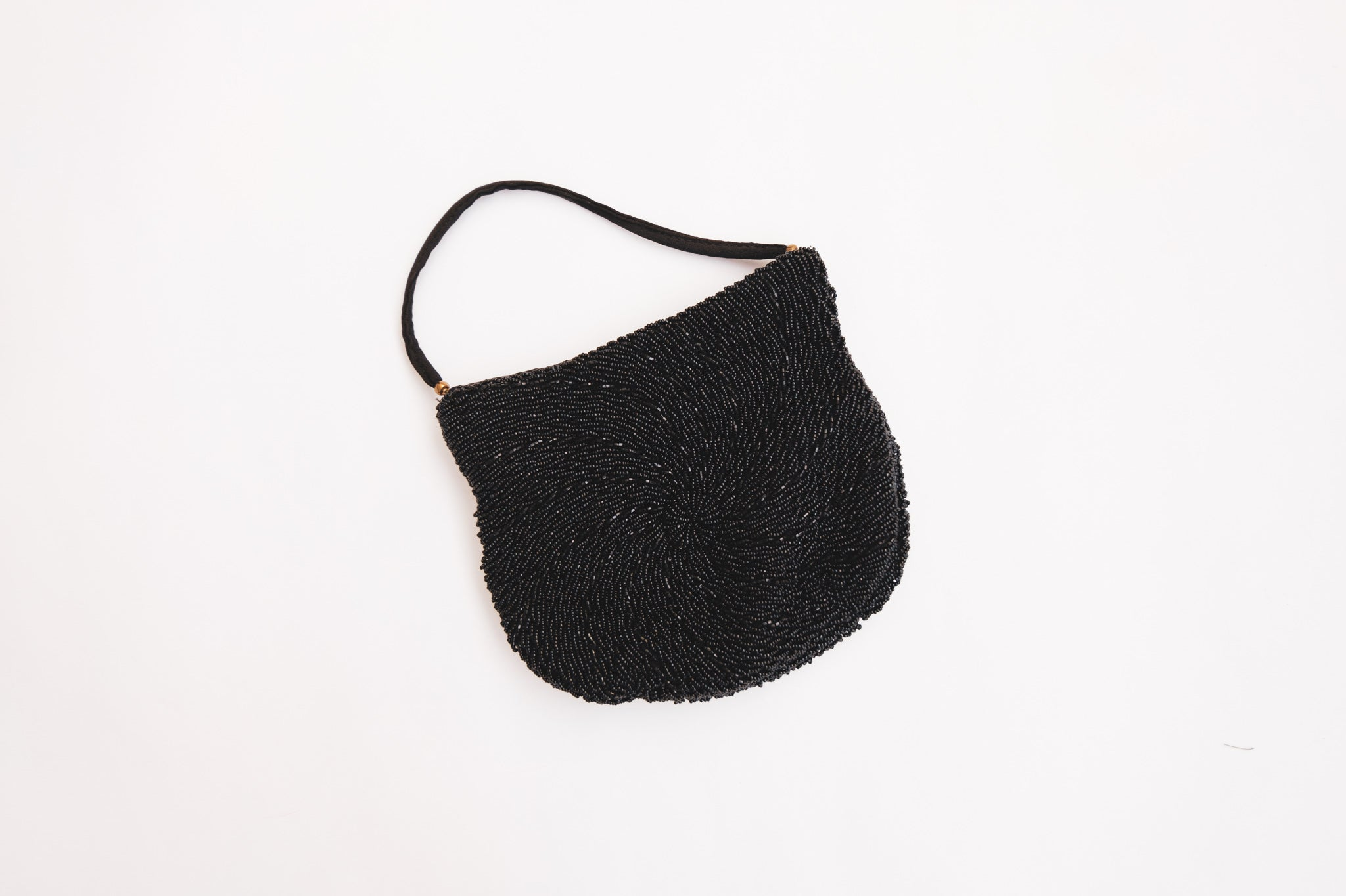 Beaded Black Purse