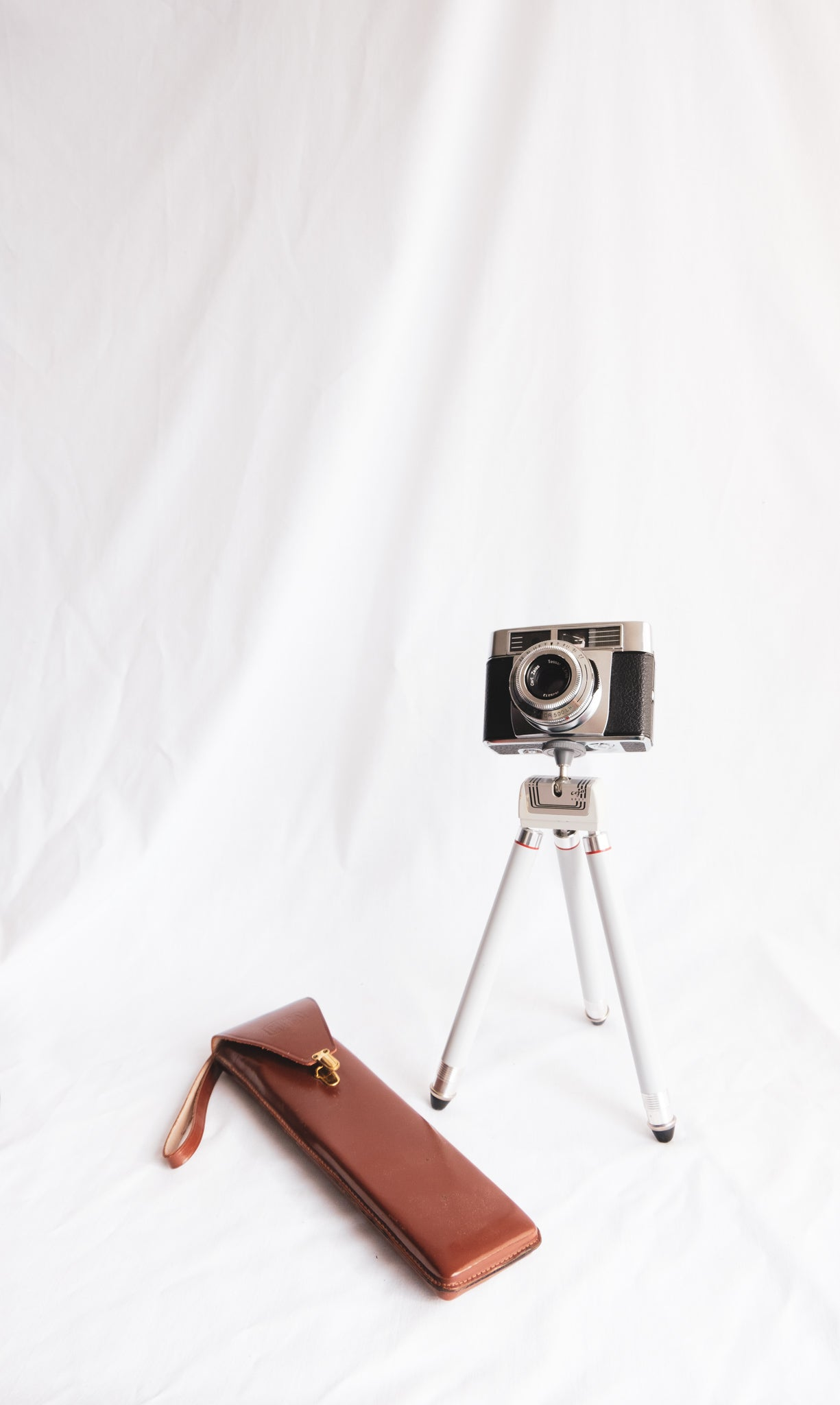 Film Camera with Leather Case