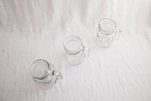 Mason Jar Drinking Glass Set
