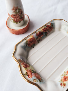 Hand Painted Rose Bathroom Set
