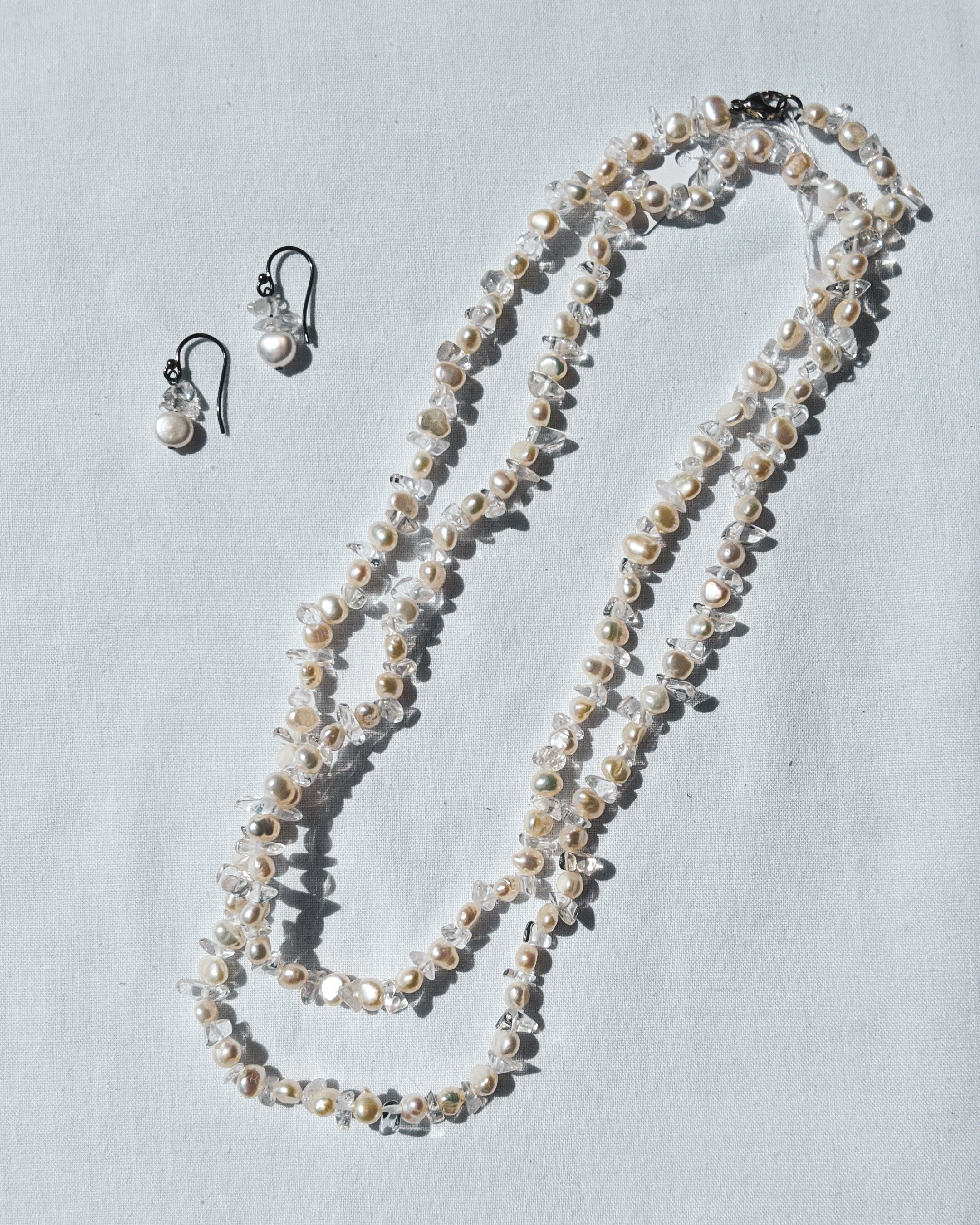 Freshwater Pearl and Sterling Silver Jewelry Set
