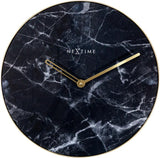 NeXtime 'MARBLE' BLACK & GOLD WALL CLOCK