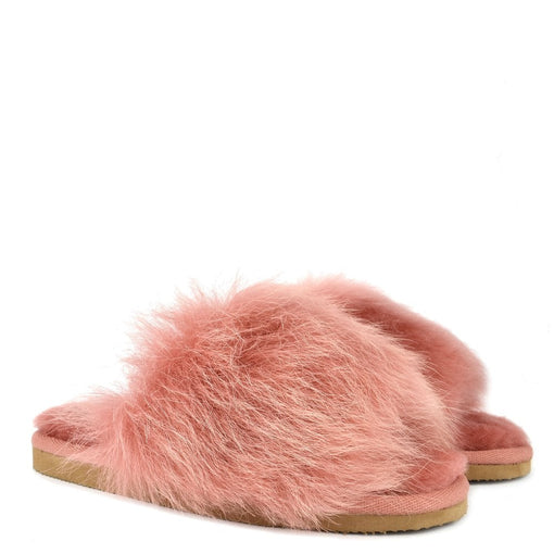 TESSAN SHEEPSKIN SLIPPERS, MARSALA