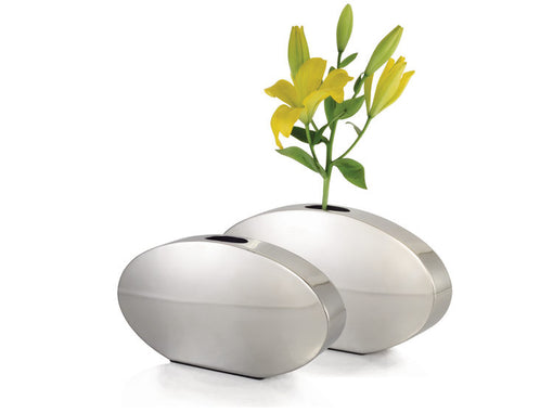 STAINLESS STEEL OVAL VASE LARGE