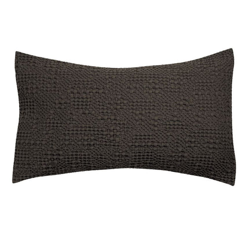 TANA STONEWASHED COTTON CUSHION 40x65cm, CARBON