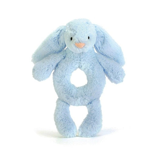 BASHFUL BUNNY GRABBER, BLUE ... Cushioned percussion!