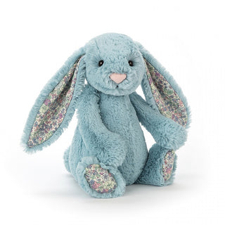 BLOSSOM AQUA BUNNY, MEDIUM ... Cerulean dream from the floral lagoon.