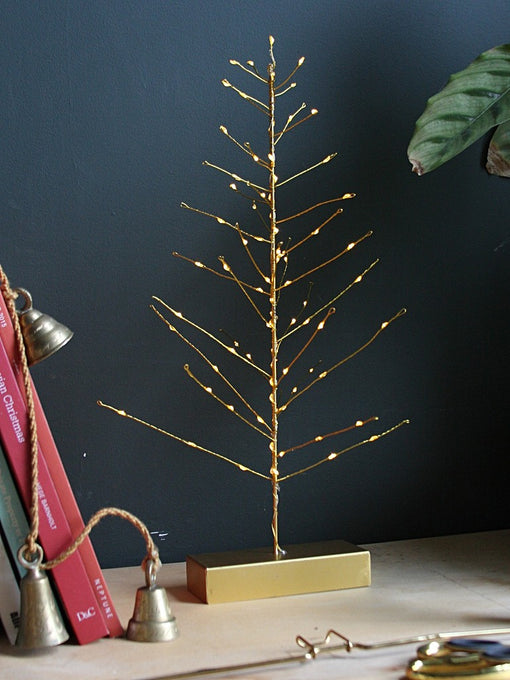 FESTIVE TREE LIGHT, GOLD