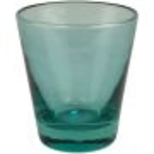 OCEANA RECYCLED GLASS WATER TUMBLER, TURQUOISE