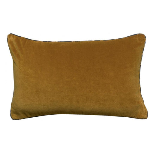 LIAM REVERSIBLE OBLONG VELVET CUSHION, SHADOW 40x65cm