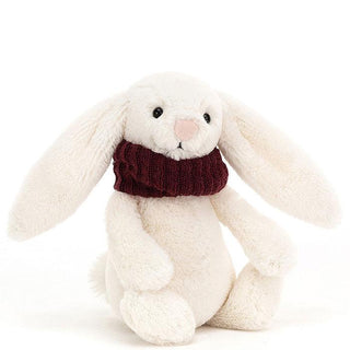 BASHFUL SNUG BUNNY, BERRY ... Creamy cuddles for frosty days!
