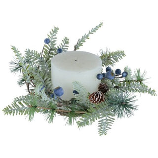 BLUEBERRY CANDLE RING 32cm
