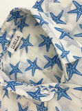 STARFISH BLUE/WHITE COTTON SHIRT