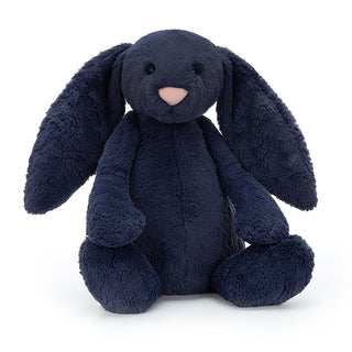 HUGE BASHFUL BUNNY, NAVY ... Bluey bounces and navy nuzzles.