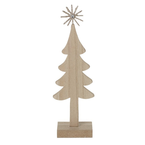 WOODEN TREE WITH GOLD STAR