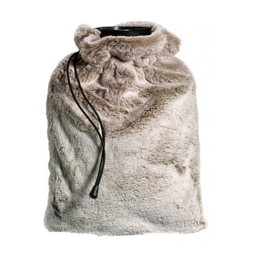 KINTA FAUX FUR HOT WATER BOTTLE, NATURAL