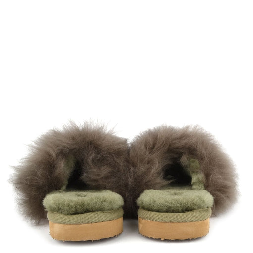 TESSAN SHEEPSKIN SLIPPERS, OLIVE