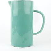 LARGE MINT CERAMIC JUG