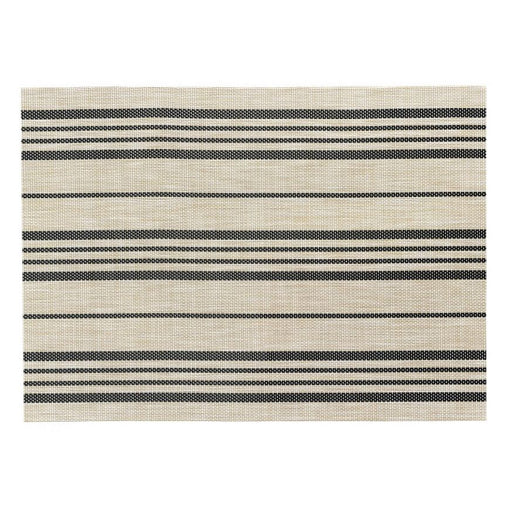 SET OF 2 SINA PLACEMATS, NATURAL/BLACK 33x45cm