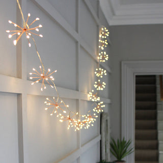 STARBURST COPPER INDOOR/OUTDOOR LIGHT CHAIN, MAINS