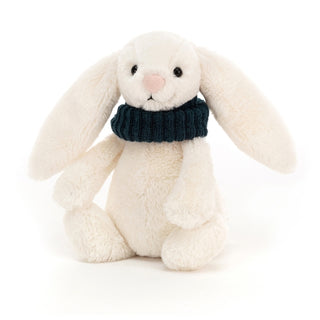 BASHFUL SNUG BUNNY, TEAL ... Creamy cuddles for frosty days!