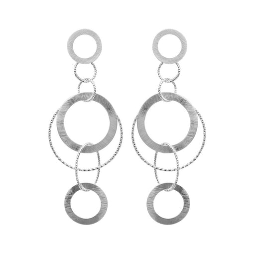 ALYSSA SILVER PLATED DOUBLE EARRINGS
