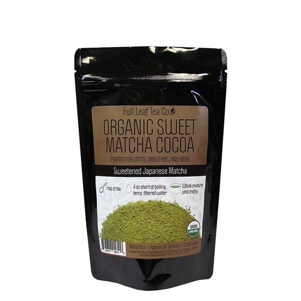 Organic Sweet Matcha Cocoa Retail Bags - Case of 6