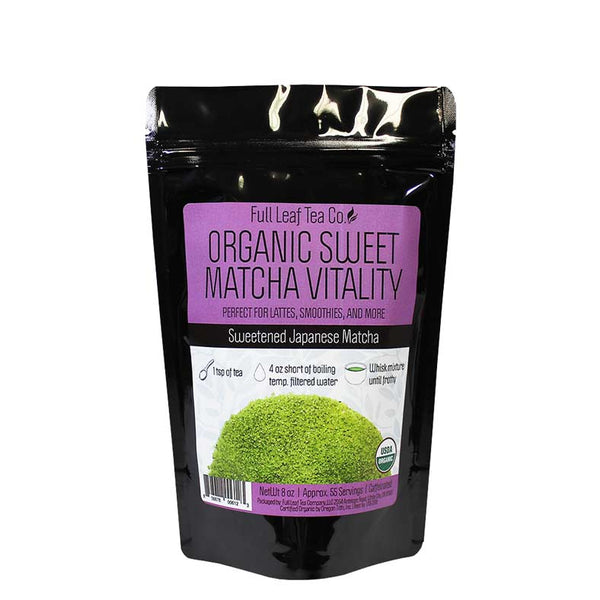 Organic Sweet Matcha Vitality Retail Bags - Case of 6