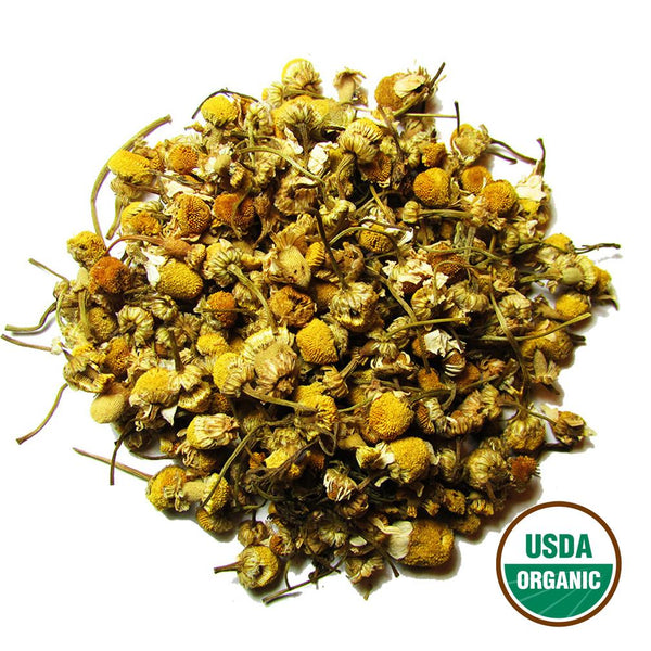 Organic Chamomile Wholesale (by the pound)  -  Loose Leaf Tea  -  Full Leaf Tea Company
