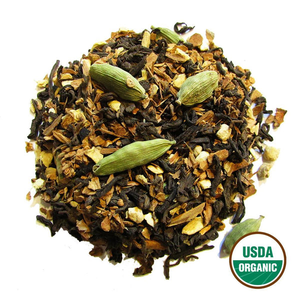 Organic Chai Pu-Erh Wholesale (by the pound)  -  Loose Leaf Tea  -  Full Leaf Tea Company