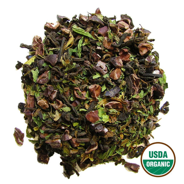 Organic Mint Cocoa Pu-Erh Wholesale (by the pound)  -  Loose Leaf Tea  -  Full Leaf Tea Company