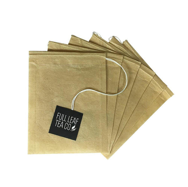 Natural Paper Drawstring Tea Bags Wholesale (100 pieces)  -  Accessories  -  Full Leaf Tea Company