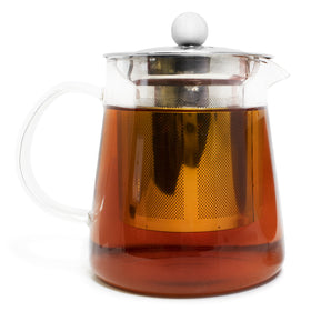 Full Leaf Glass Infuser Teapot - Case of 4
