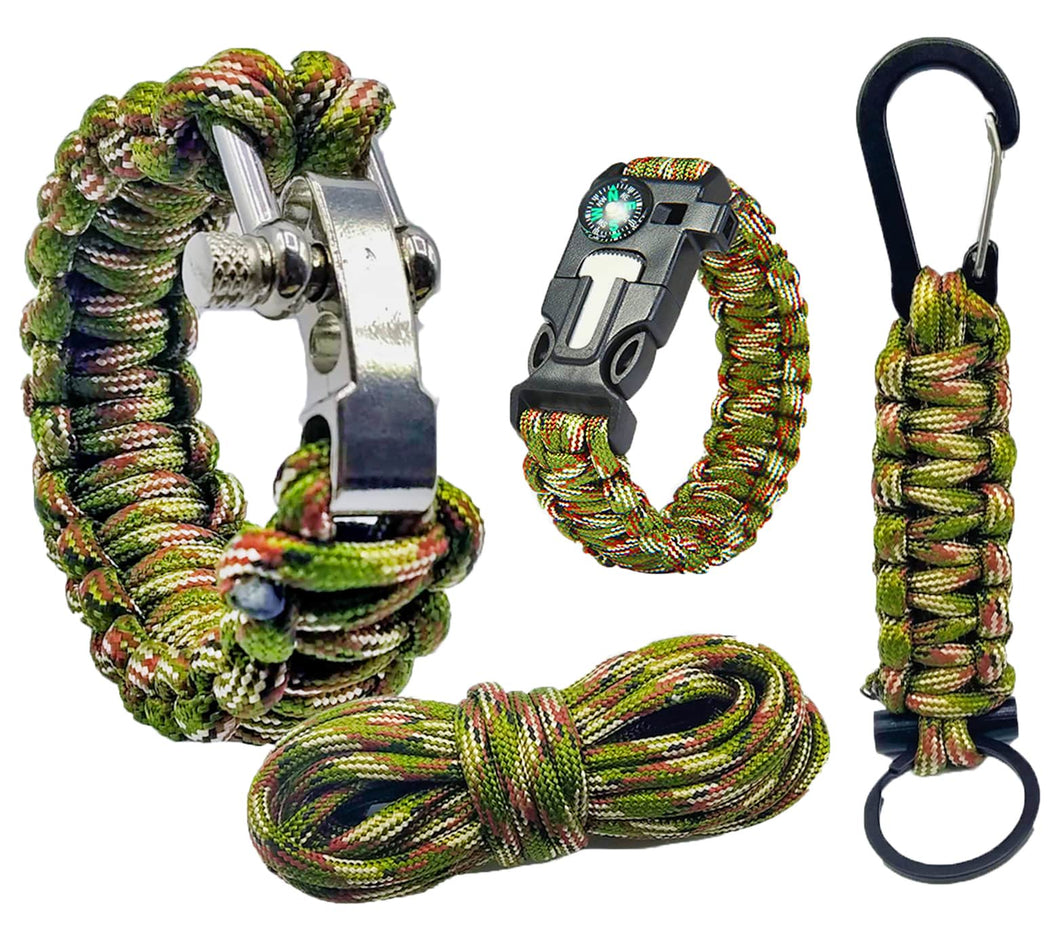 kit paracord 550 pulseras de supervivencia