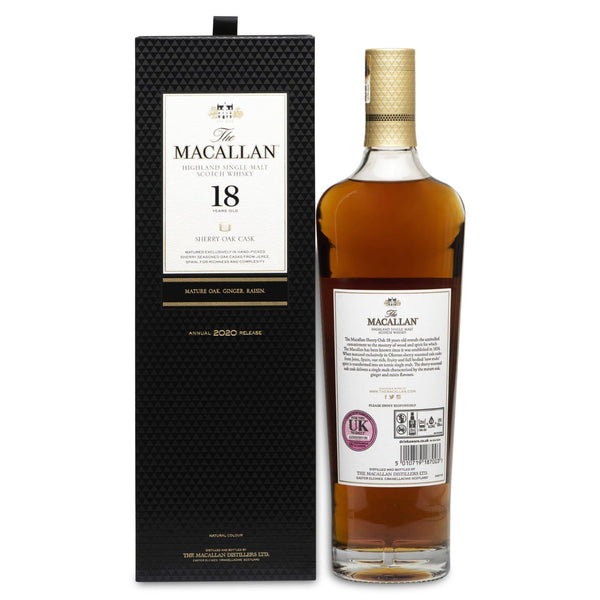 Macallan 18 Year Old Sherry Oak Cask (2020 Release) - JPHA