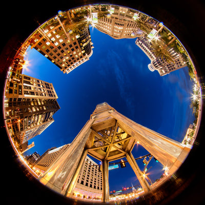 Tower of Light: Shooting with a fisheye lens