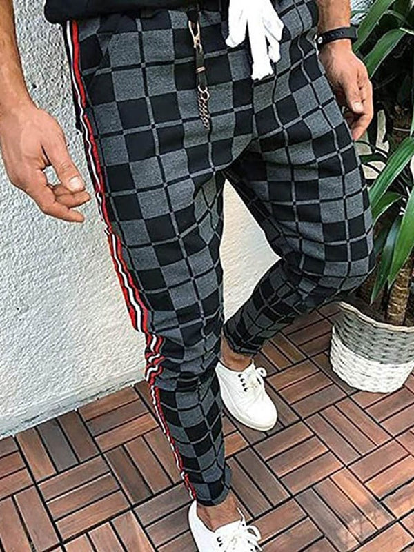 Plaid Print Harem Casual Four Seasons Casual Pants