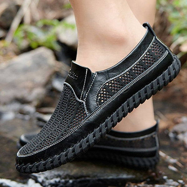 Plain Slip-On Low-Cut Upper Flat Heel PU Round Toe Thin Shoes
